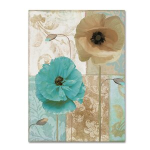 'Beach Poppies I' by Color Bakery Graphic Art on Wrapped Canvas by Trademark Fine Art