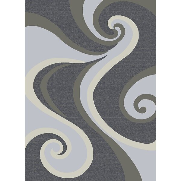 Mccampbell 3D Gray/Silver Area Rug by Ivy Bronx