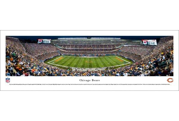 NFL Chicago Bears 50 Yard Night Photographic Print by Blakeway Worldwide Panoramas, Inc