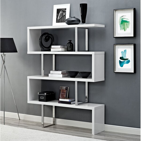 Meander Geometric Bookcase by Modway