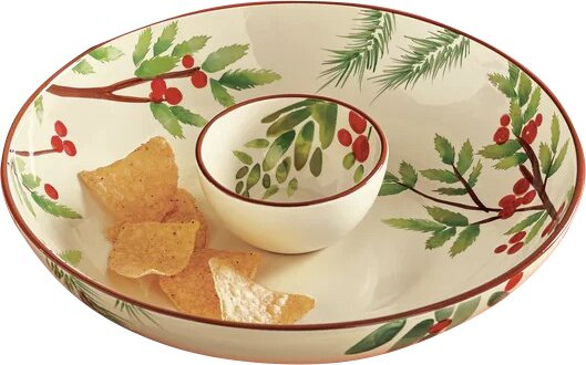 Greenery Chip & Dip Tray by TAG