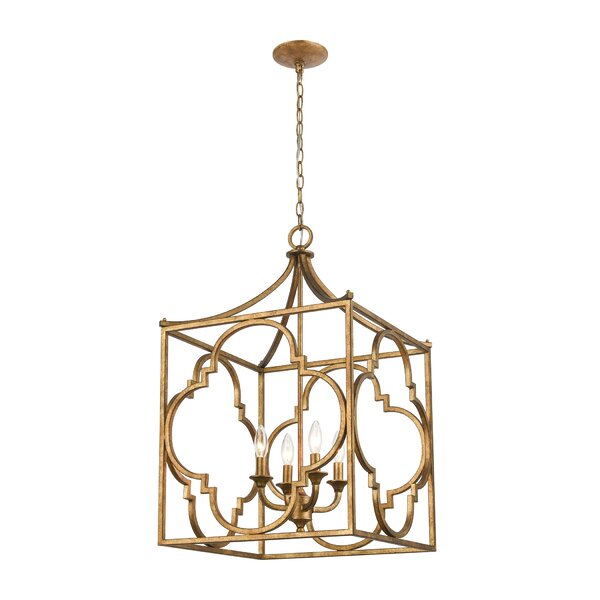 Nemeth 4 - Light Unique Square Chandelier By Canora Grey