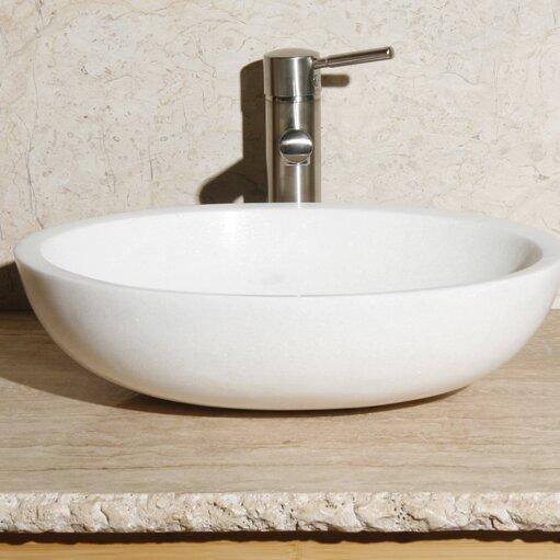 Stone Oval Vessel Bathroom Sink