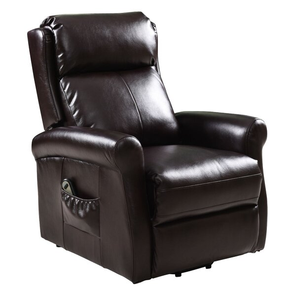 Earleen Faux Leather Power Lift Assist Recliner with Massage W003428176