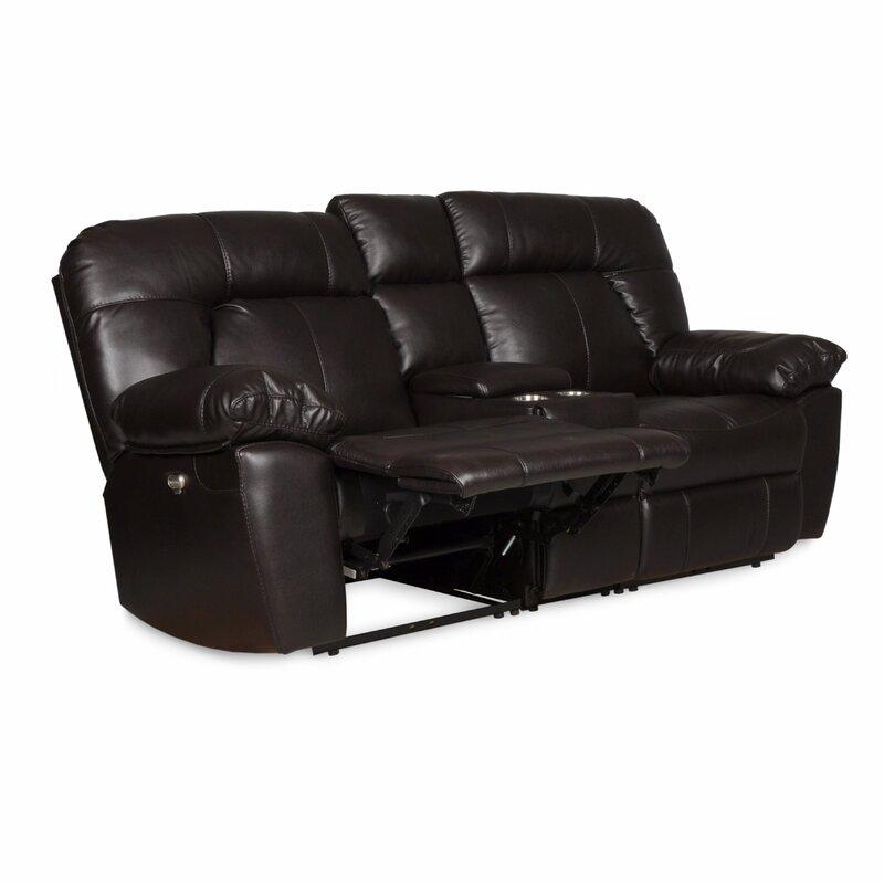 Zhenyu Reclining Sofa With Console By Red Barrel Studio