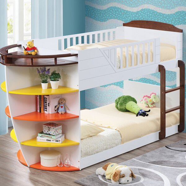 Edmonds Twin Bunk Bed with Shelves by Zoomie Kids