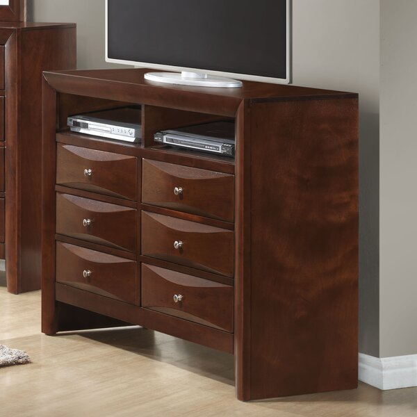 Best Price Towslee 6 Drawer Media Chest