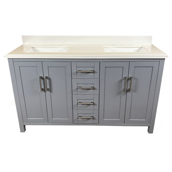 Hodgkins 60 Double Bathroom Vanity by Latitude Run