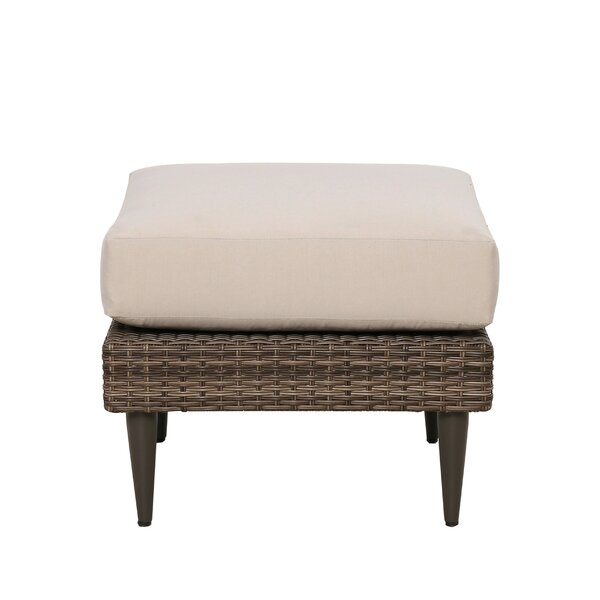 Gainell Outdoor Ottoman with Cushion by Latitude Run