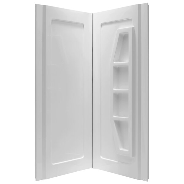 Gradient 74 x 36 x 36 Two Panel Shower Wall by ANZZI
