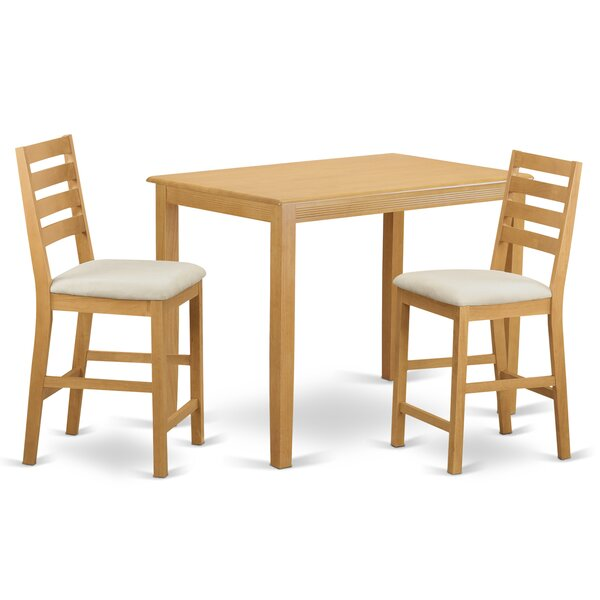 Yarmouth 3 Piece Counter Height Pub Table Set by Wooden Importers