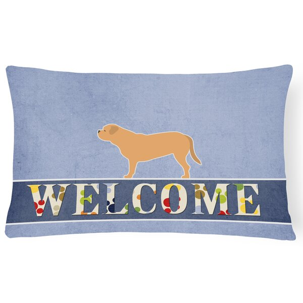 Lostant Dogue de Bordeaux Welcome Lumbar Pillow by Red Barrel Studio