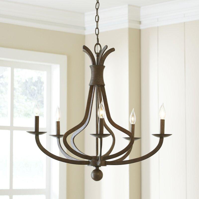 egleston 5light candlestyle chandelier