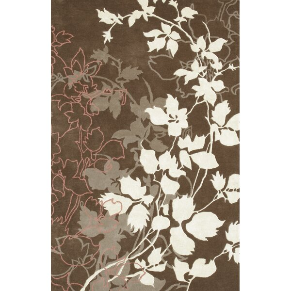 Dahlia Brown & White Area Rug by Noble House