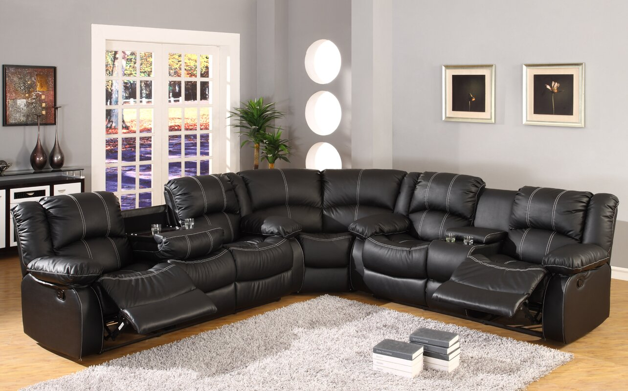 Ultimate Accents Comfort Reclining Sectional \u0026 Reviews | Wayfair