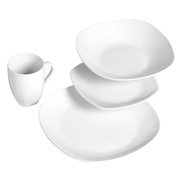 Quinto 16 Piece Dinnerware Set, Service for 4 by Tabletops Gallery
