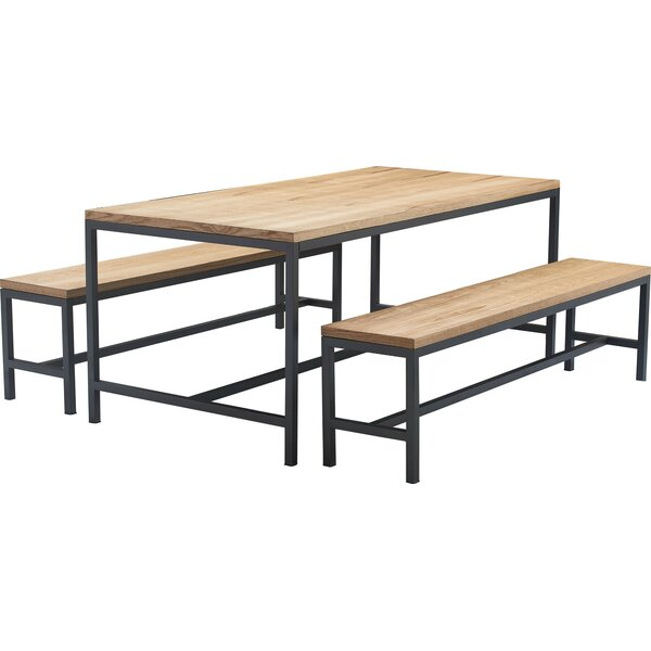 Robson 3 Piece Dining Table Set by Tommy Hilfiger