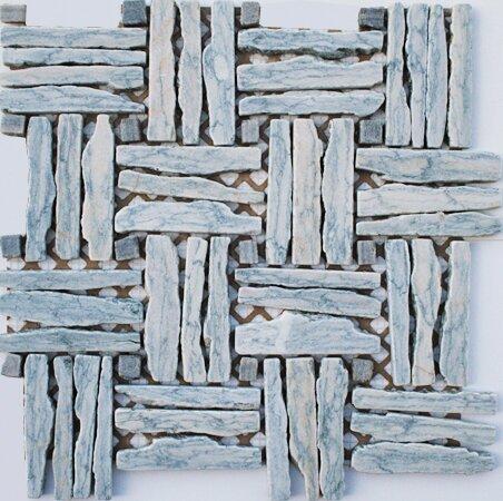 Landscape Wonder 1 x 4 Random Sized Stone Mosaic Tile in Gray/Light Blue by Intrend Tile