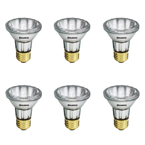 35W E26 Dimmable Halogen Spotlight Light Bulb (Set of 6) by Bulbrite Industries