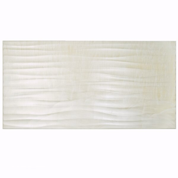 Deco Daba 12.5 x 24.5 Porcelain Field Tile in Pearl by EliteTile