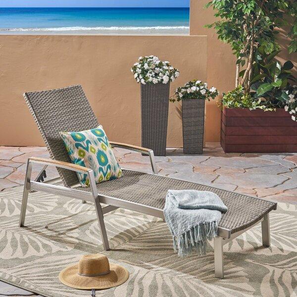 Marin Outdoor Reclining Chaise Lounge by Latitude Run Latitude Run