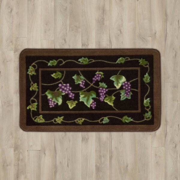 Poquonock Black Grapes Area Rug by Charlton Home