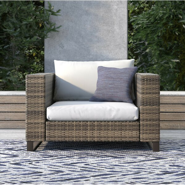 Oceanside Outdoor Wicker Patio Chair with Cushions by Tommy Hilfiger