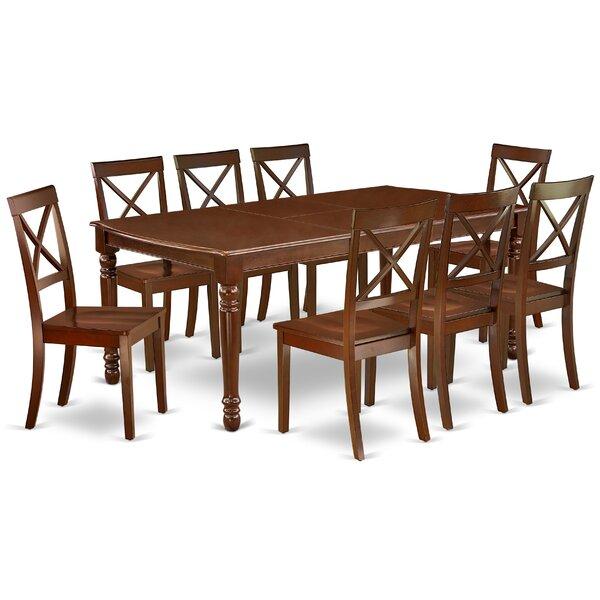 Vonda 9 Piece Extendable Solid Wood Dining Set by Alcott Hill Alcott Hill