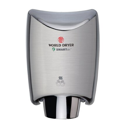 SmartDri Multi-Port Nozzle 110-120 Volt Hand Dryer in Brushed Stainless Steel by World Dryer