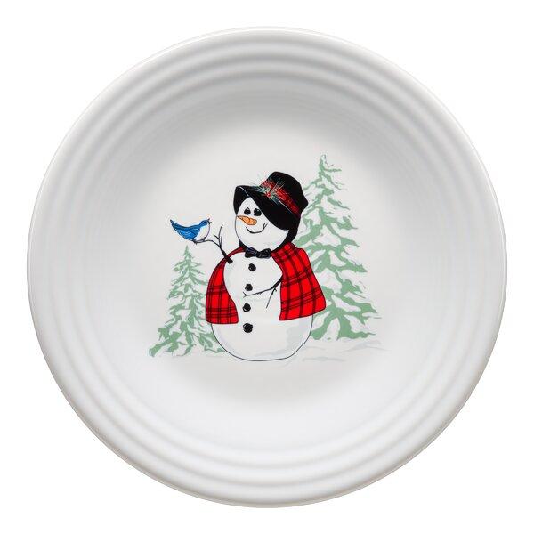 Snowlady Luncheon 7 Dessert Plate by Fiesta