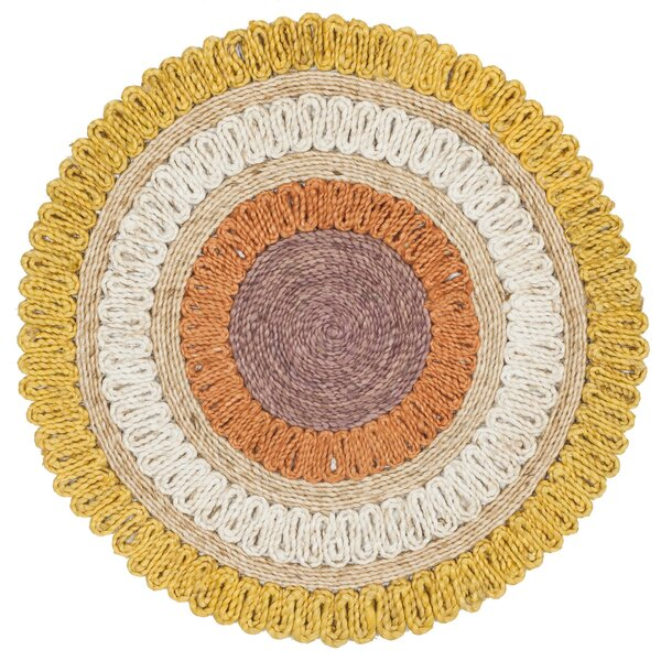 Jeanbaptiste Natural Fiber Hand Tufted Yellow/White Area Rug  by August Grove