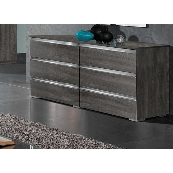 Tehama 6 Drawer Double Dresser by Orren Ellis