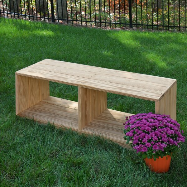 Outdoor Solid Wood Storage Bench by Wood Designs Wood Designs
