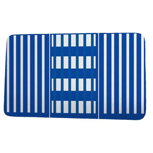 Naomi Rectangle Non-Slip Striped Bath Rug