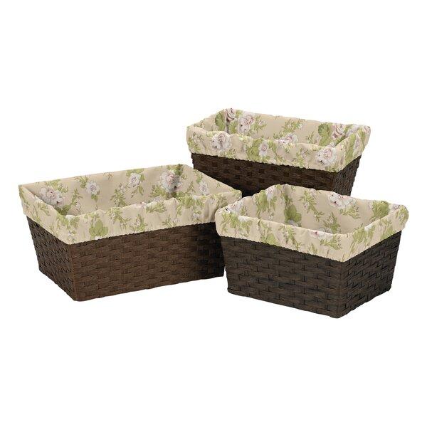 Annabel 3 Piece Basket Liner Set by Sweet Jojo Designs