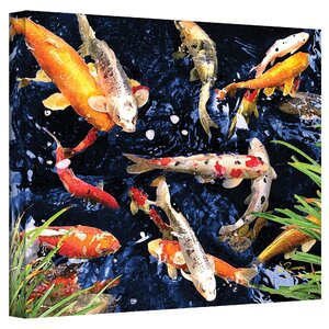 'Koi' Painting Print on Canvas by World Menagerie