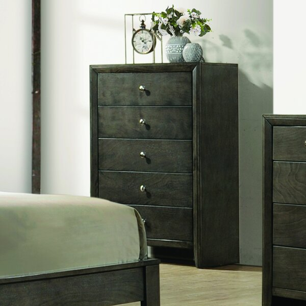 Brasel 5 Drawer Chest by Charlton Home