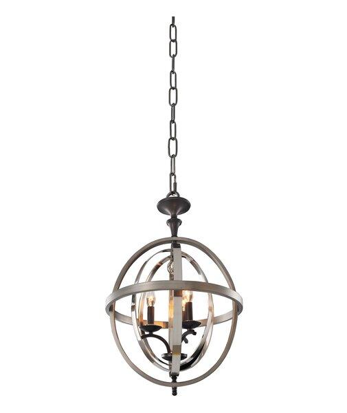 Rothwell 3-Light Globe Chandelier by Kalco