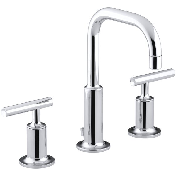 Purist Widespread Bathroom Faucet with Drain Assem