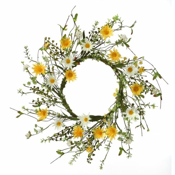 Field Wild Daisy Candlering 14 Wreath by Regency International