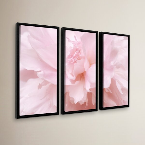 Pink Petals 2 Piece Framed Photographic Print Set by One Allium Way