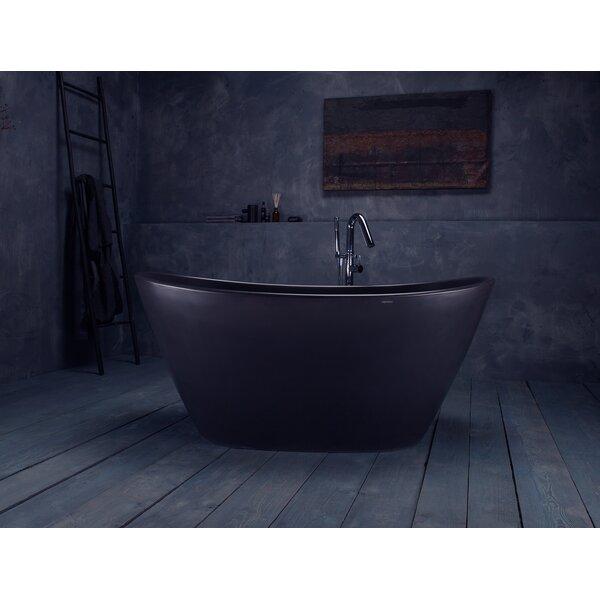 PureScape 63 x 33.5 Freestanding Soaking Bathtub by Aquatica