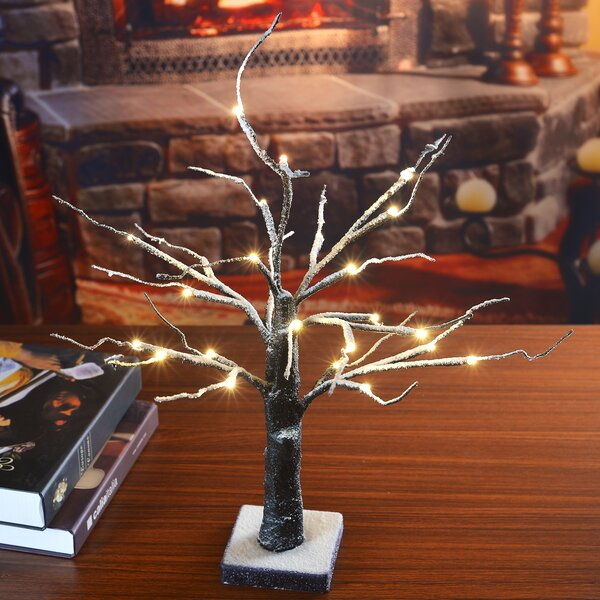 LED 24 Light Snow Dusted Bonsai Tree by Lightshare