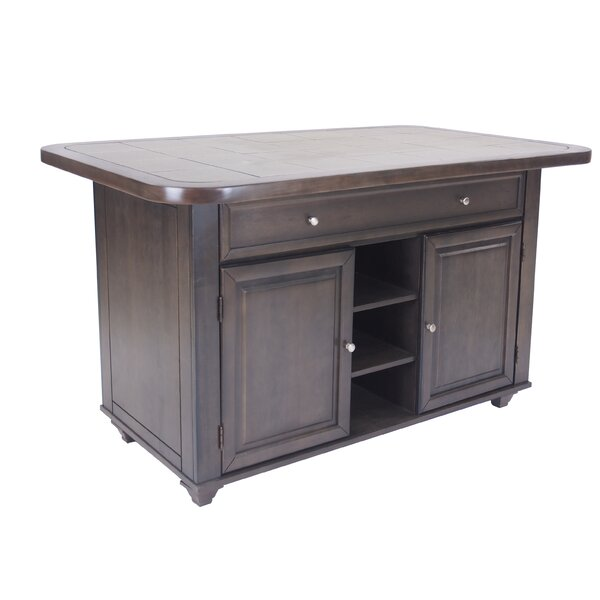 Loon Peak Irie Shades of Gray Kitchen Island by Loon Peak
