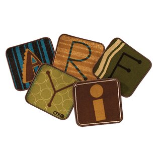 Compare & Buy Toddler Alphabet Blocks Squares Nature Area Rug (Set of 26) By Carpets for Kids