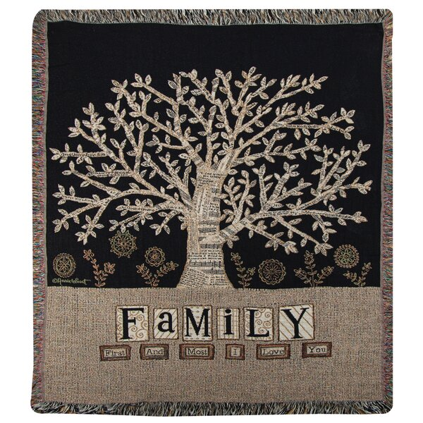 Family Tapestry Cotton Throw by Manual Woodworkers & Weavers