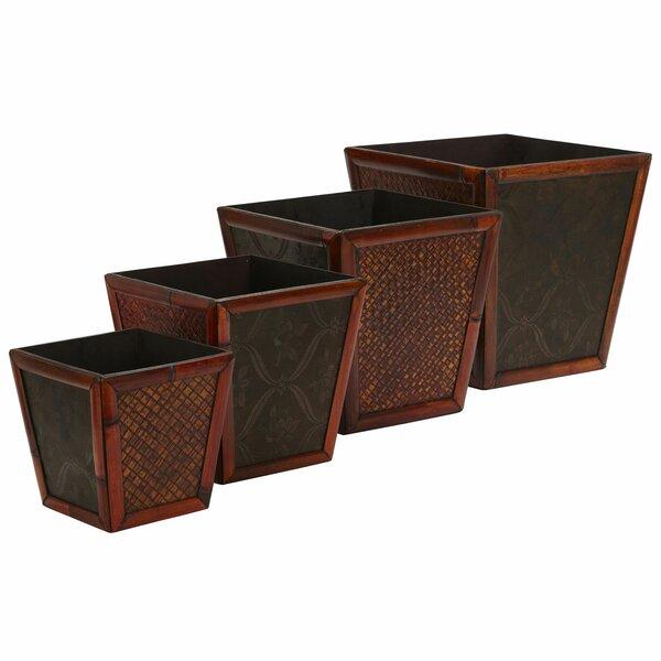 Pembroke Bamboo Pot Planter Set (Set of 4) by Bay Isle Home