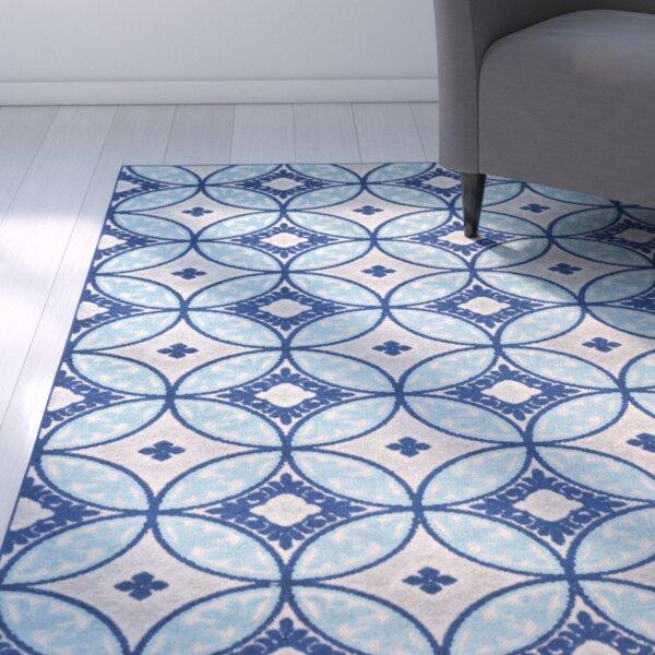 Dorinda Blue/Gray Indoor/Outdoor Area Rug by Ebern Designs