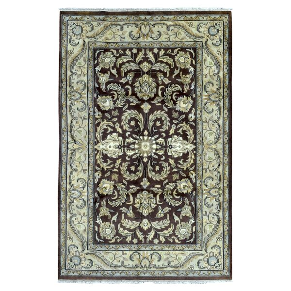 One-of-a-Kind Slagen Oriental Had Woven Wool Brown Area Rug by Astoria Grand