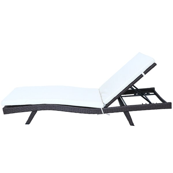 Rake Reclining Chaise Lounge with Cushion (Set of 2) by Highland Dunes Highland Dunes